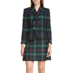 Ralph Lauren Amelia Tartan Pleat  Wool Miniskirt